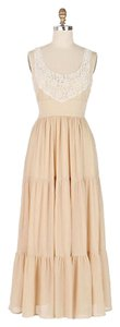 tan and cream Maxi Dress by Anthropologie