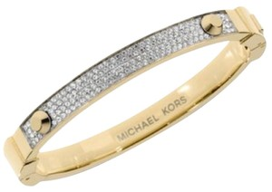 Michael Kors Gold Tone Stone Stud Bangle