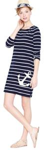 J.Crew short dress navy blue ans white on Tradesy