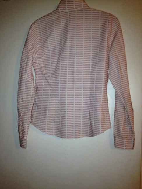 Burberry Button Down Shirt Peach and cream lines Image 2