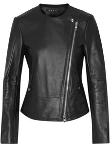 Theory Motorcycle Biker Asymmetric Leather Jacket
