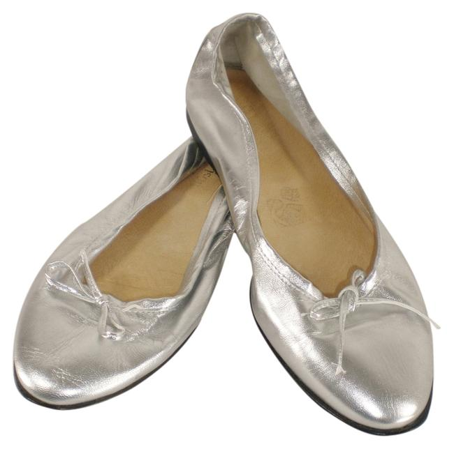 Item - Silver Made In Italy Flats Size US 8.5 Regular (M, B)