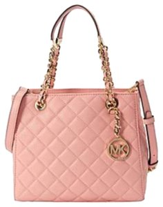 Michael Kors Michael Susannah Small Quilted Tote in Pale Pink