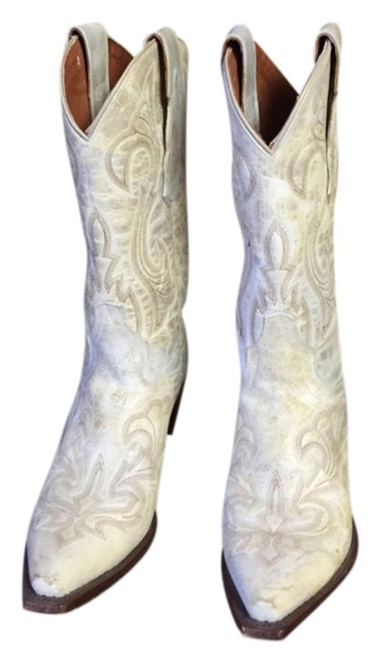 Women's White Grayish White Women's Cowboy Boots/Booties Excellent performance ca0b58