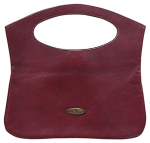 Etienne Aigner Leather Sleek Classic Vintage Retro Red Clutch