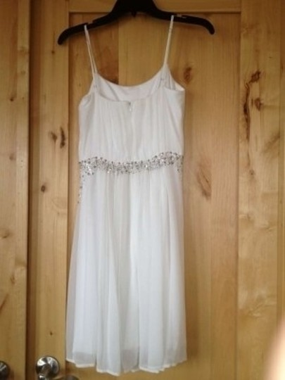 Calvin Klein Ivy Ivory Chiffon Cd2h1hlg Casual Wedding Dress Size 2 (XS)