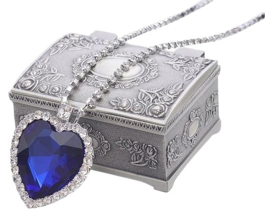 REIN Titanic Heart of Ocean Big Czech Blue Crystal Pendant Necklace with Jewelry