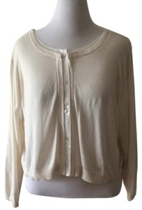 Suzi Chin for Maggy Boutique Sequin Trim Cropped Plus Size Button Down Shirt Ivory