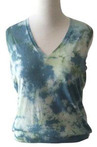 Lafayette 148 New York Tie Dye Boho V-neck Plus Size Sweater
