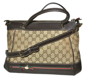 Gucci Crossbody Monogram Handbag Made In Italy Iconic Hobo Bag