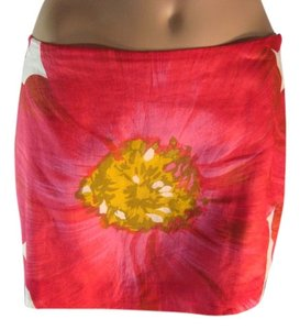 Theory Summer Floral Mini Skirt Flower Pattern