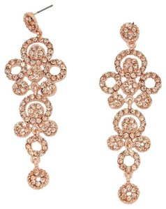 Rhinestone Crystal Peach Rose Gold Earrings