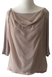 Kische Layered Boho Tunic Organza Floaty Top Nude