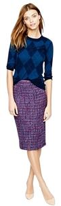 J.Crew Preppy Tweed Office Skirt Purple