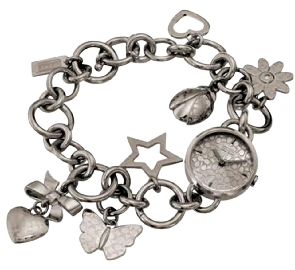Coach Silver Zoe Wristwatch Charm Bracelet Rare And Hard To Find
