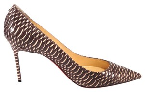 Christian Louboutin Decollete Watersnake Louboutin cramoisi Pumps