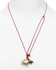 Tory Burch Crab Charm Pendant Necklace, 22