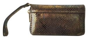 MILLY MILLY NWT EL DORADO GOLD SNAKE EMBOSSED LEATHER SMARTPHONE WRISTLET
