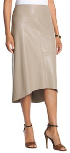 Chico's Size 1.5 Faux Lather Skirt Pebblestone