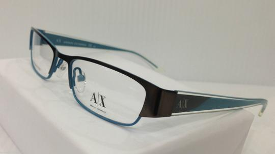 A|X Armani Exchange Armani Exchange AX227 Col 0YP0 Brown W/Blue Metal Eyeglasses Frame 50-17-135
