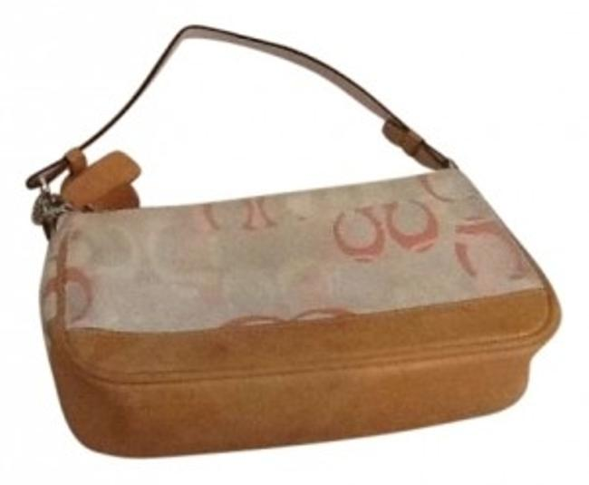 Item - Purse Small White with Pink Satin Shoulder Bag