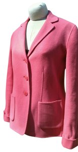 Jones New York Wool Jacket Unlined Pink Blazer