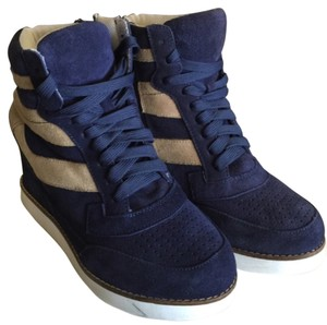 Jeffrey Campbell Navy blue/tan or beige cream Athletic
