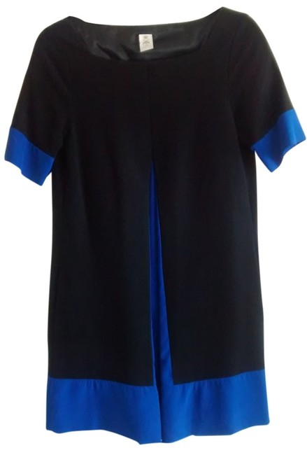 Item - Black and Royal Blue A-line Above Knee Work/Office Dress Size 8 (M)
