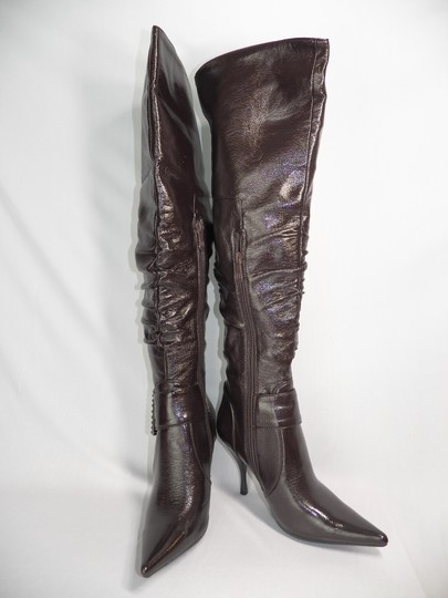 Other Faux Leather Patent Brown Boots
