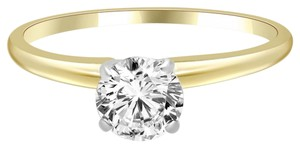 Avi and Co 0.28 ct F-G/VS-SI Round Diamond Solitaire Engagement Ring 14k Yellow Gold