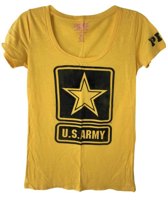 Item - Golden Yellow Pink U.s. Army Tee Shirt Size 6 (S)