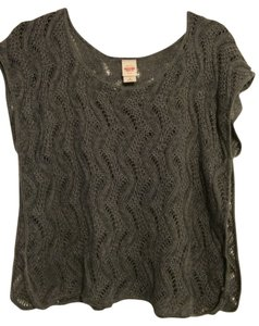 Mossimo Supply Co. Gray Knitted Casual Shirt Top Dark gray