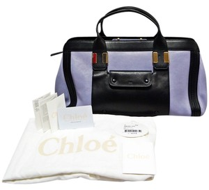 Chloé Alice Handbag 2 Tone Colorblock Satchel in Wisteria Violet