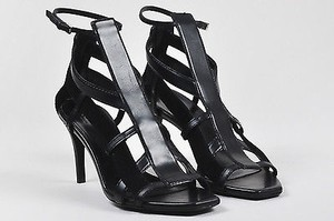 Gucci Leather Open Black Sandals