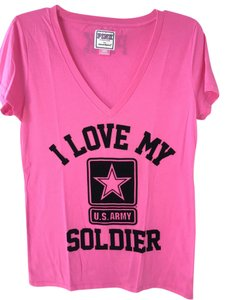 PINK Victoria's Secret Us Army Military T Shirt Pink