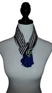 Talbots Striped Silk scarf by talbots