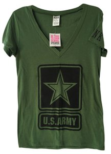 Victoria's Secret Pink T Shirt Army Green
