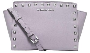 Michael Kors Studded Rare Stud Selma Purple Messenger Bag