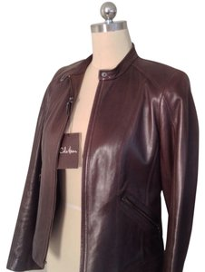 Cole Haan Chocolate Leather Jacket