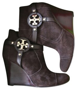 Tory Burch Suede Bootie Brwon Brown Boots