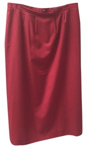 Burberry Xl 20 Skirt Red