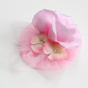 Pink Rose Fascinator for Brides or bridesmaids