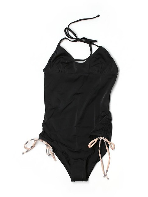 Item - Black Swimsuit with Nova Check Ties One-piece Bathing Suit Size 8 (M)