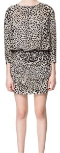 Zara short dress Leopard on Tradesy