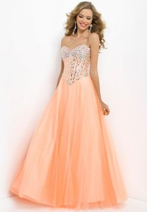 Blush Ball Gown Prom Orange Dress