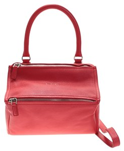 Givenchy Leather Pandora Satchel in Red
