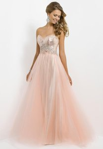 Blush A-line Prom Full Skirt Gown Dress