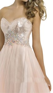 Blush A-line Prom Full Skirt Ball Gown Dress