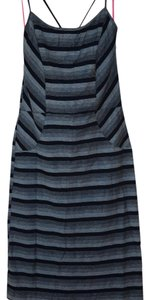 Free People short dress Navy grey stripes Bodycon on Tradesy