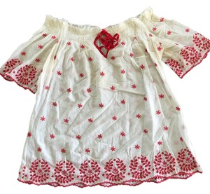 bebe Top White and red